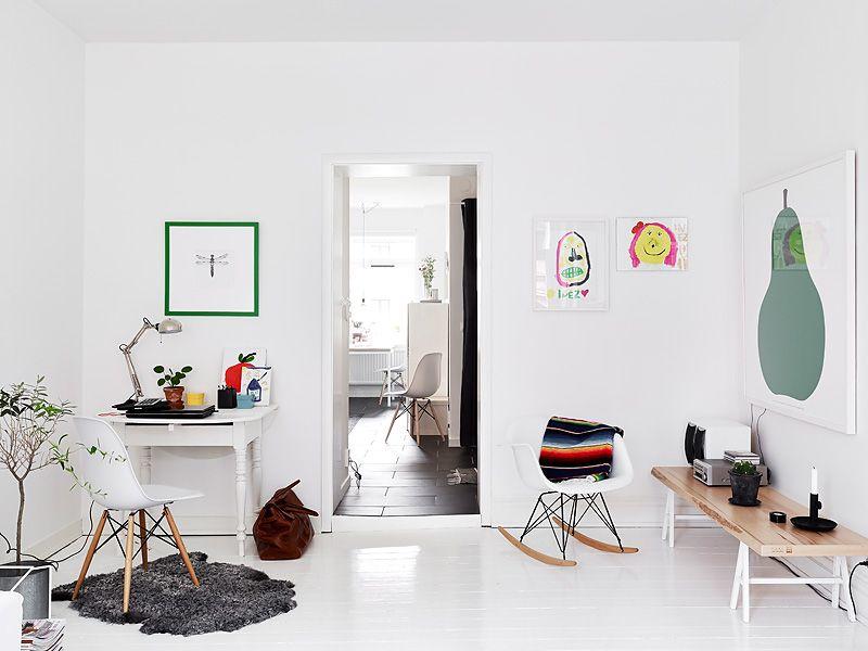 Interior architecture · white sunny swedish