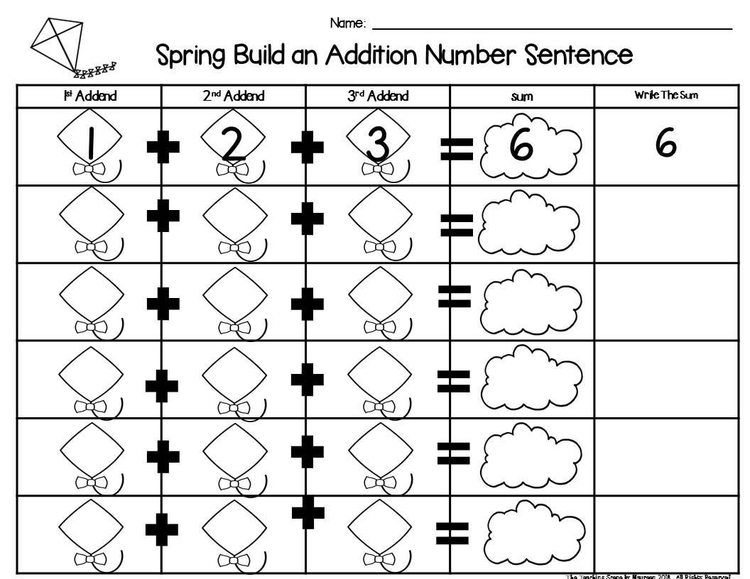 Spring Build 3 Addend Addition Amp Subtraction Number