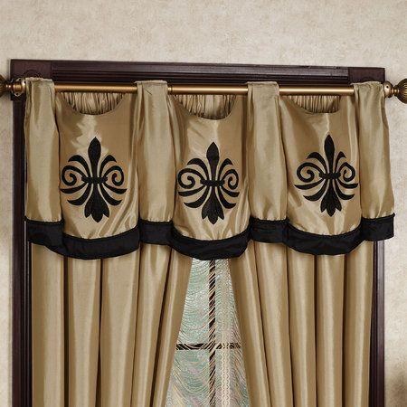 Fleur De Lis Curtains Black Gold Touchofclass Black Gold Bedroom