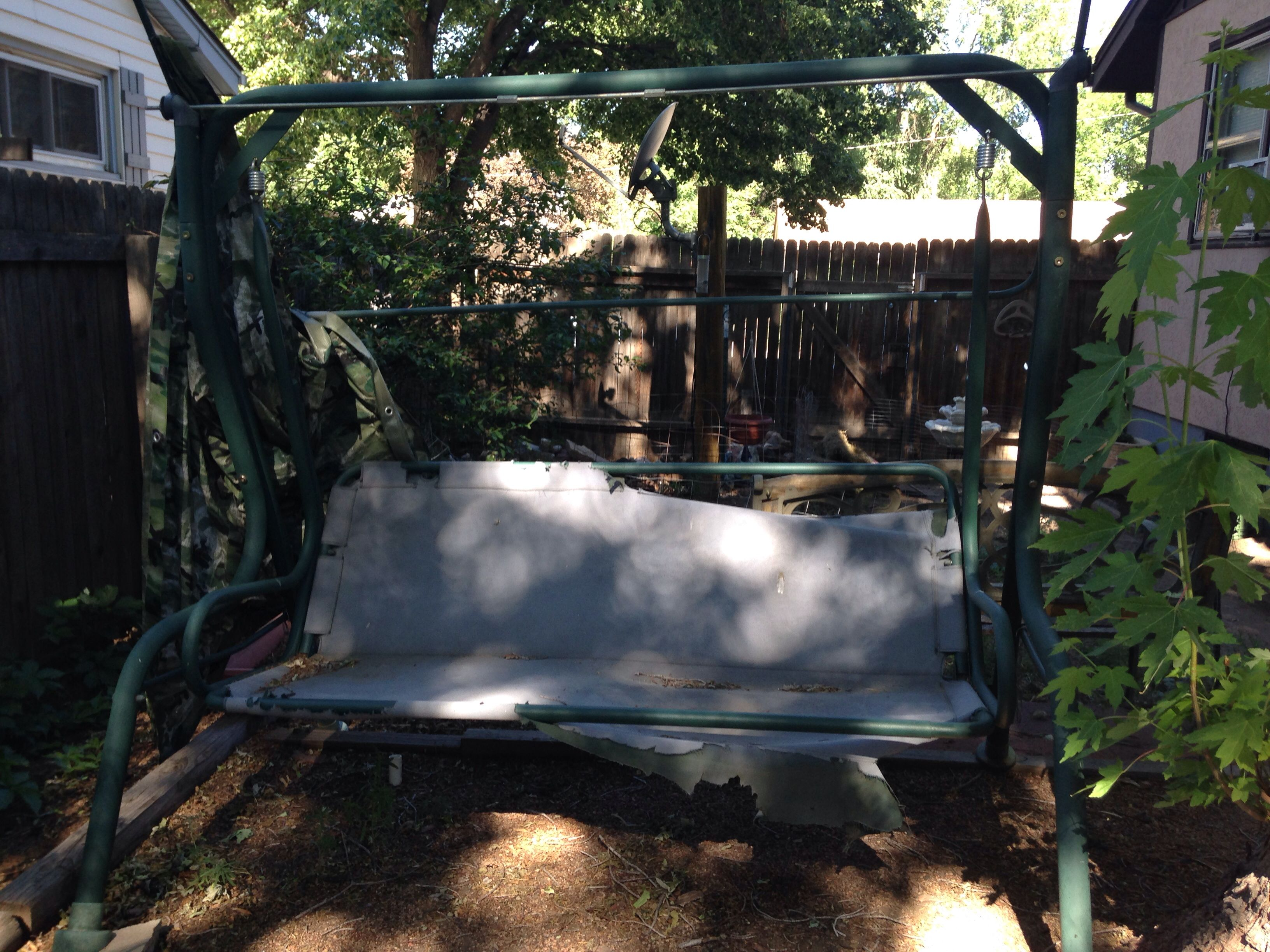 Before refurbishing! Outdoor projects, Patio swing