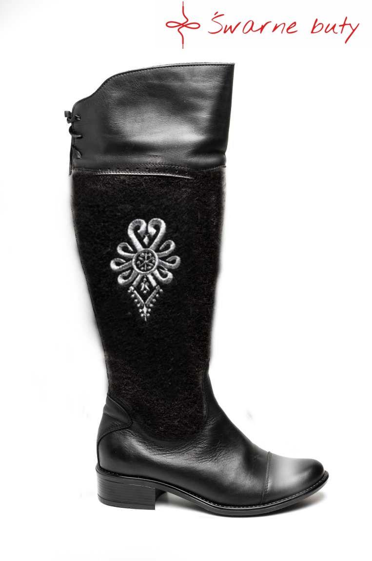 Kozaki Z Parzenica Swarne Buty Boots Shoes Rubber Rain Boots