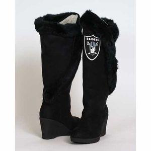 Oakland Raiders Cheerleader Boot - Click to enlarge