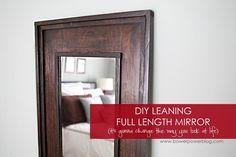 Leaning Floor Mirror DIY | Floor mirror, Dining room mirrors and Diy ...
