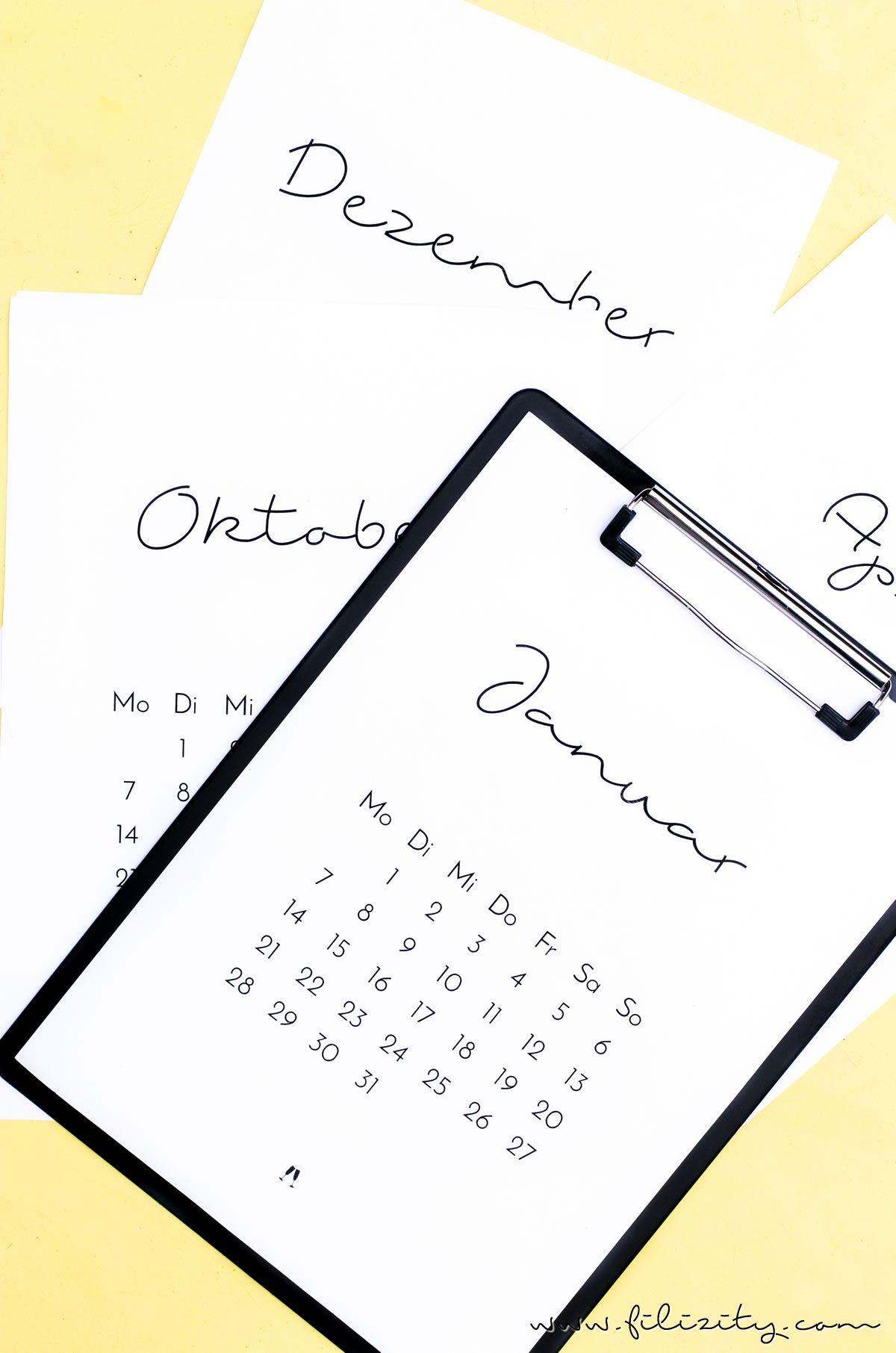 druckvorlage minimalistischer kalender 2019 home decor. Black Bedroom Furniture Sets. Home Design Ideas