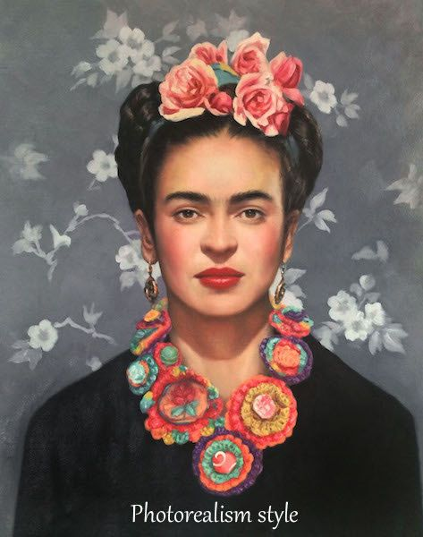 Frida Kahlo Wall Art Print. Frida Kahlo Painting.