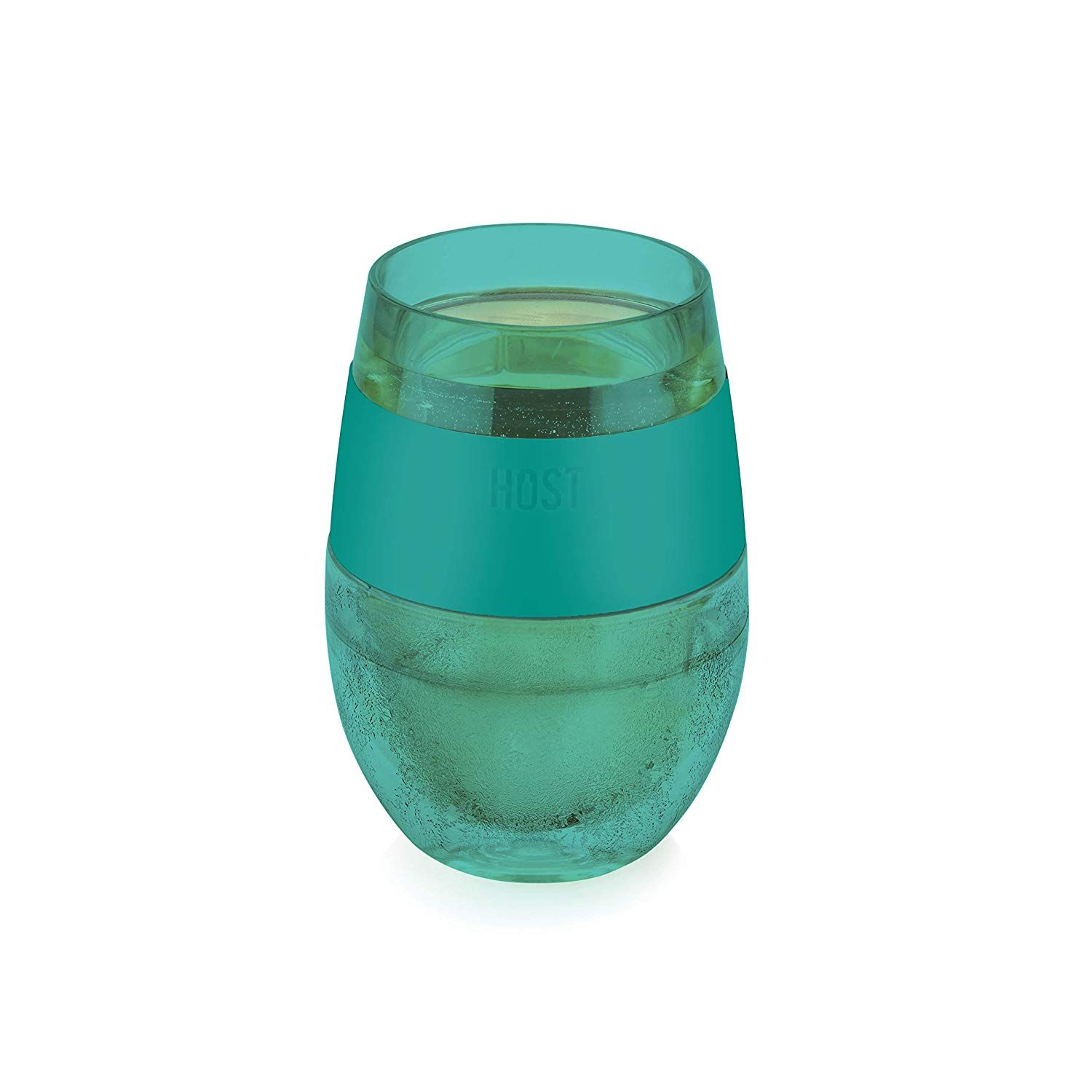 Host 7422 Wine Freeze Cooling Cup Translucent Green 1 Cup Wine