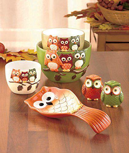 Happy Harvest Owl Table Top Ceramic Serveware Set of 6 Lakeside Harvest http://www.amazon.com/dp/B00O9E1CK0/ref=cm_sw_r_pi_dp_f5Jzub19Z6M7Y