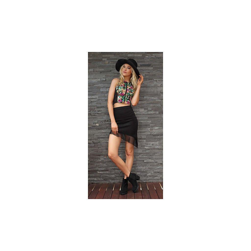 TING-A-LING Asymmetrical Skirt - Black