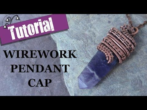Wirework Necklace Bar and Pendant Drop - Wire Wrapping Tutorial ...
