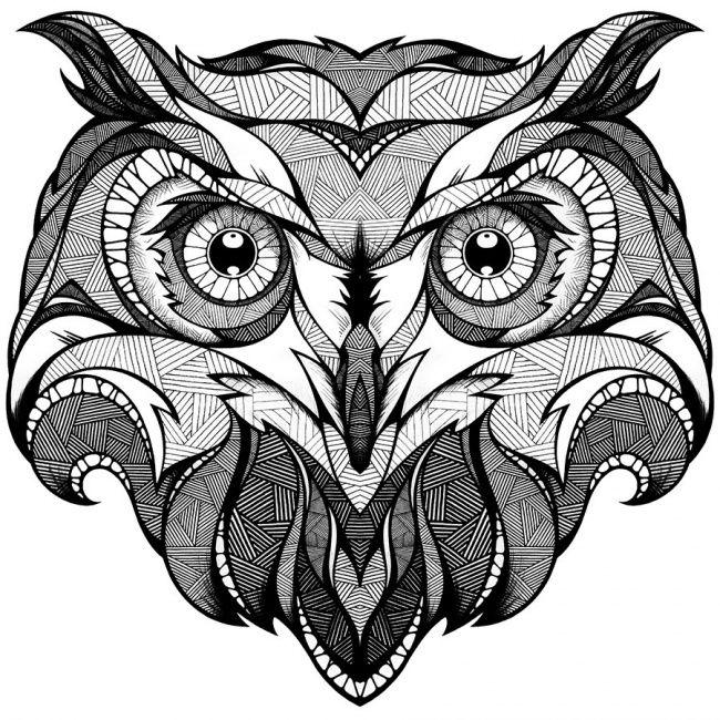 Узорные картинки сова