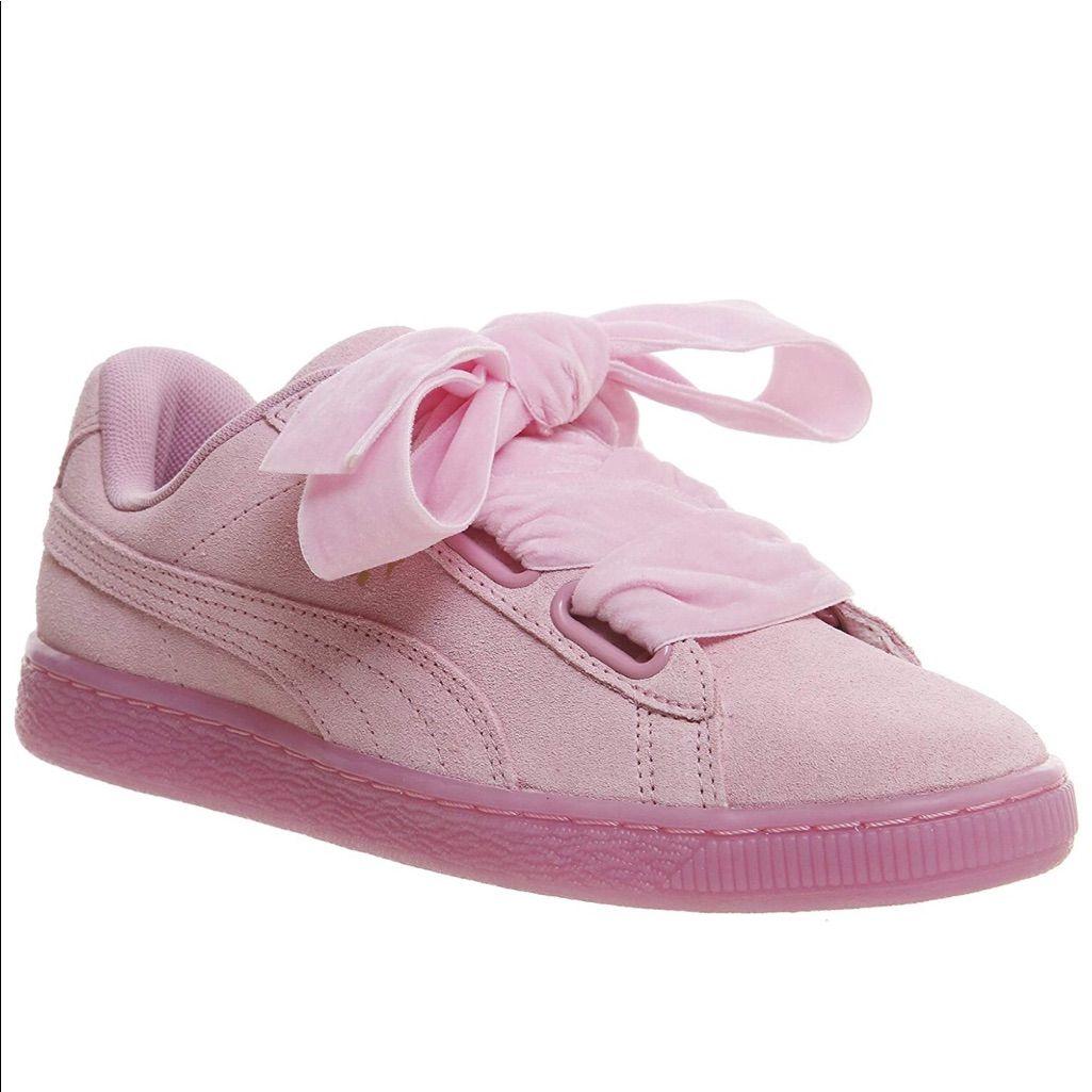rosa puma sneaker suede heart reset