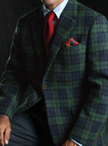 Harris Tweed blackwatch jacket, from Ben Silver. $935 ...