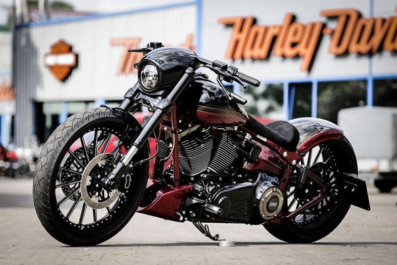 Harley Davidson Softail Nobleout By Thunderbike Softail Harley Davidson Bikes Harley Davidson