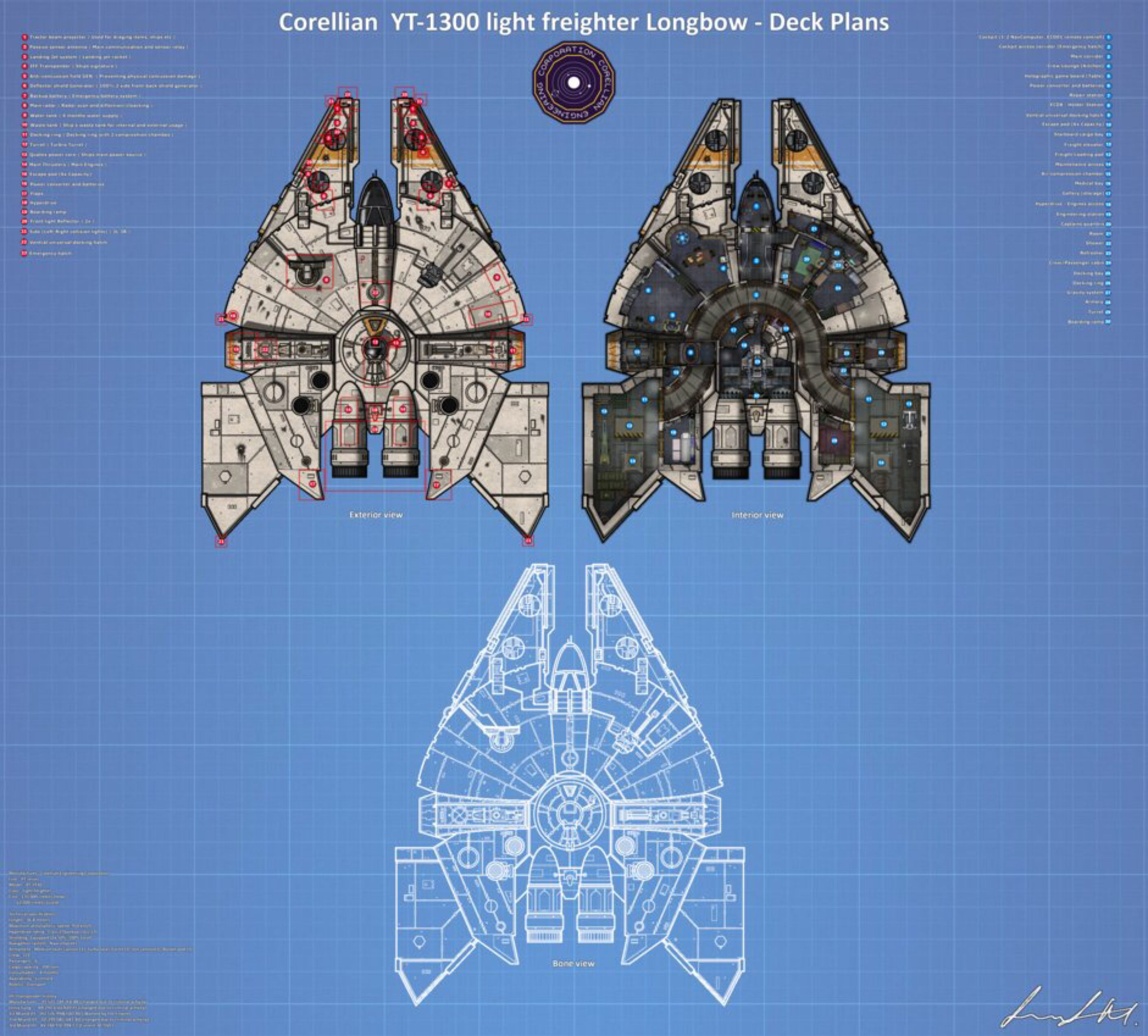 27 Awesome Sun Deck Designs: YT-1930 FRP Map Full Deck Plans (Miand's Longbow) By