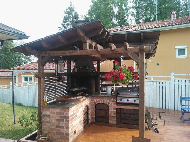Sommerküche Bauanleitung : Kesäkeittiö ylästö diy pinterest aussenküche grillplatz und