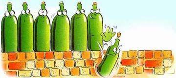 Ten green bottles ...
