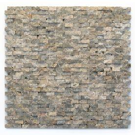 Indoor Stone Wall solistone 10-pack modern brown natural stone mosaic subway indoor