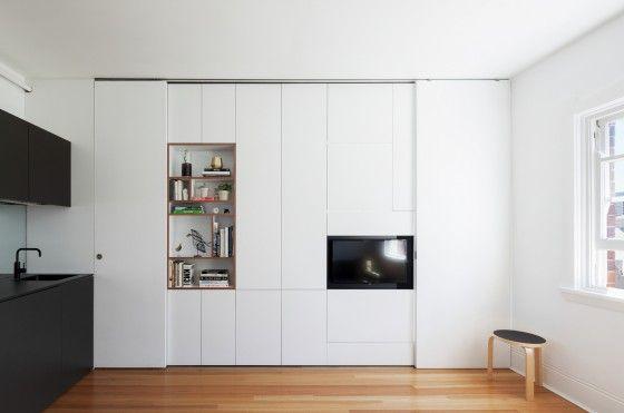 Práctico departamento de 27 metros cuadrados de un dormitorio - diseo de interiores de departamentos