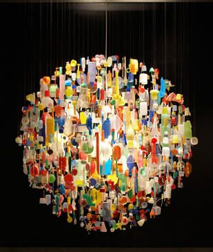 Chandelier Made From Trash Found Out Of The Ocean Chandeliers Reclaimed Recycled