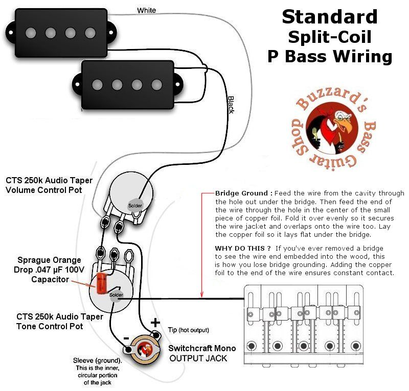p bass wiring diagram when the electrical source originates at a rh pinterest com p bass wiring mods p bass wiring seymour duncan