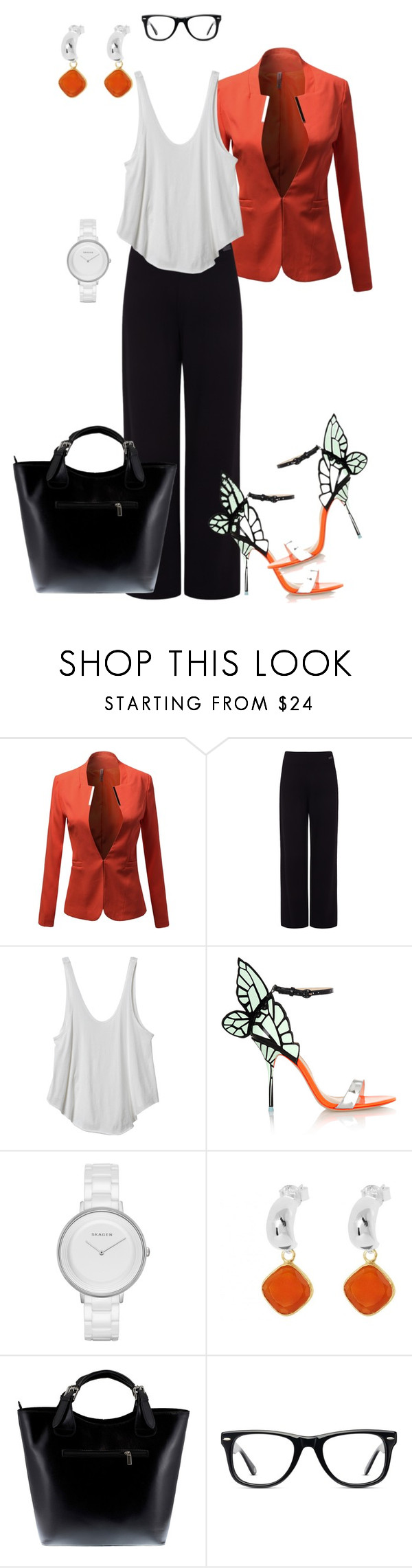 I'm D Boss by divalious-77 on Polyvore featuring RVCA, Pink Tartan, Sophia Webster, Massimo Castelli, Skagen and Muse