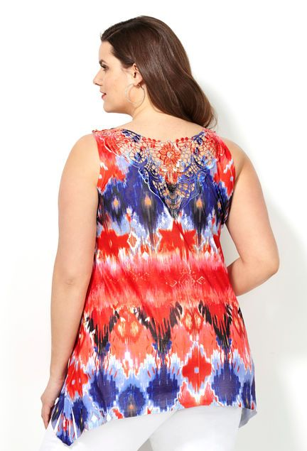 8aeb186b26e2 Ikat Crochet Back Tank #avenueplus. Ikat Crochet Back Tank #avenueplus Plus  Size Tops ...
