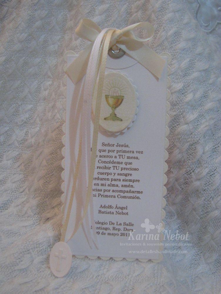 Karina Nebot Invitaci 243 N Y Separador De Libro Para Primera