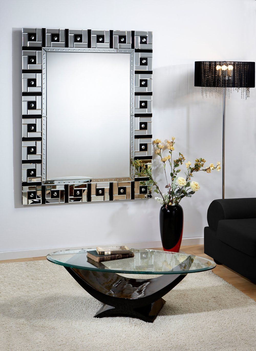 magnifique miroir d coratif design miroir d 39 entr e. Black Bedroom Furniture Sets. Home Design Ideas