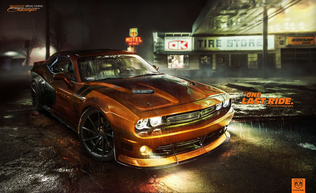 Dodge Challenger Orange Sports Car Wallpaper Cars