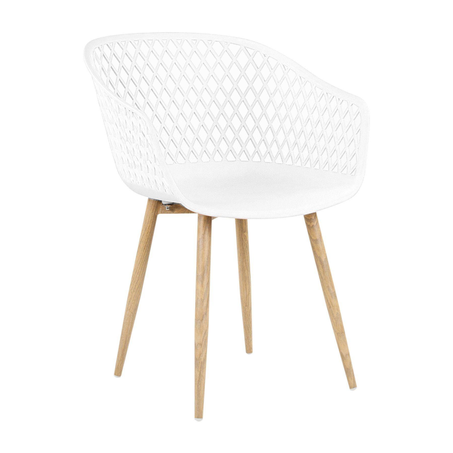 Modern műanyag szövött szék, fehér MANILLE Dining