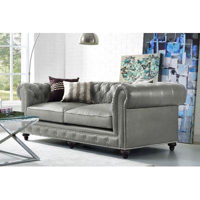 Mercer41 Bustam Leather Sofa