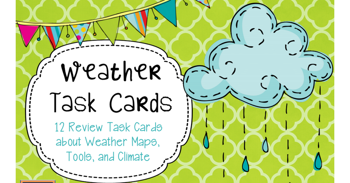 Weatherclimatecardspdf 4th Grade Science Pinterest Pdf