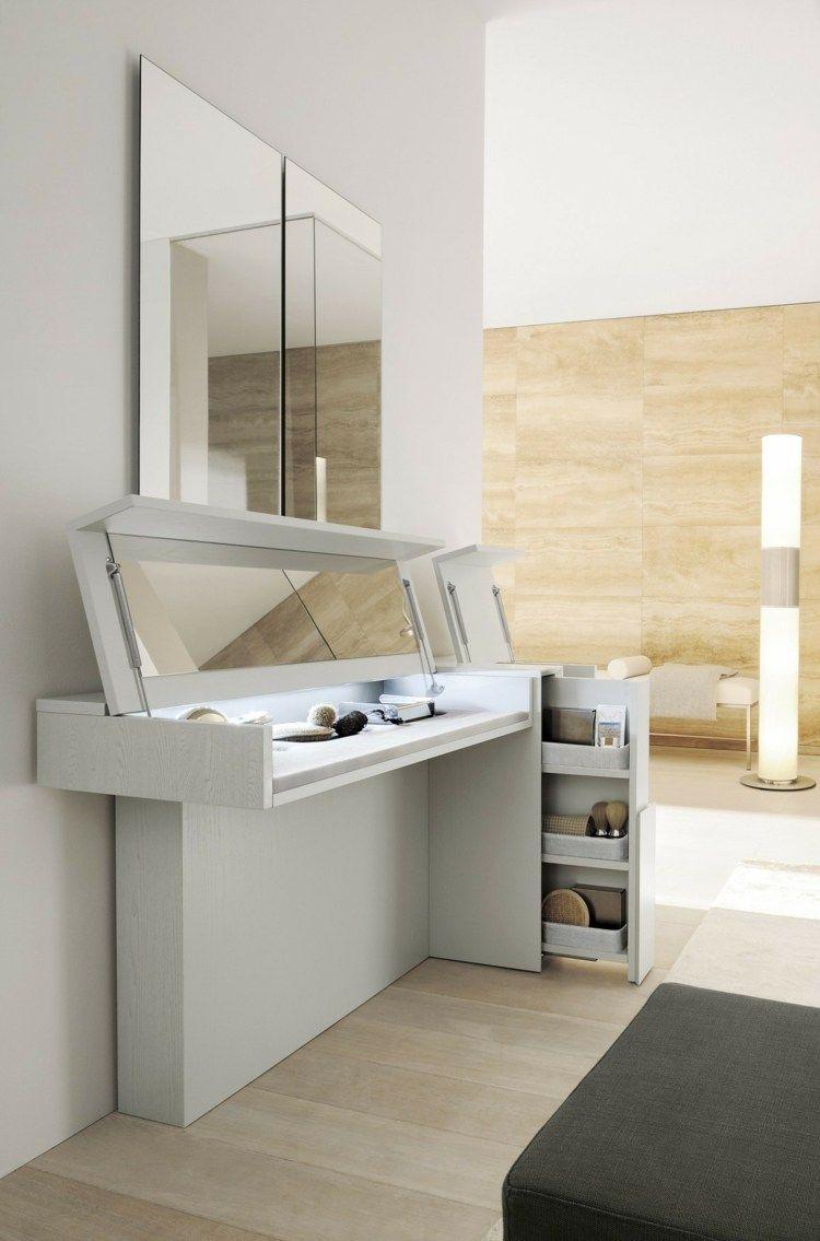 meuble coiffeuse en blanc et en d autres couleurs 30 id es inspirantes en 2018 suite pinterest. Black Bedroom Furniture Sets. Home Design Ideas
