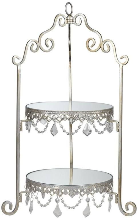 antique silver mirror 2 tier stand perfect for my perfume bottles