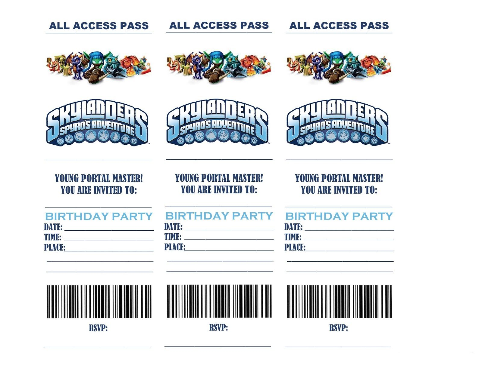 Life In a Larger Story SKYLANDERS BIRTHDAY PARTY INVITATIONS – Email Party Invitation Templates