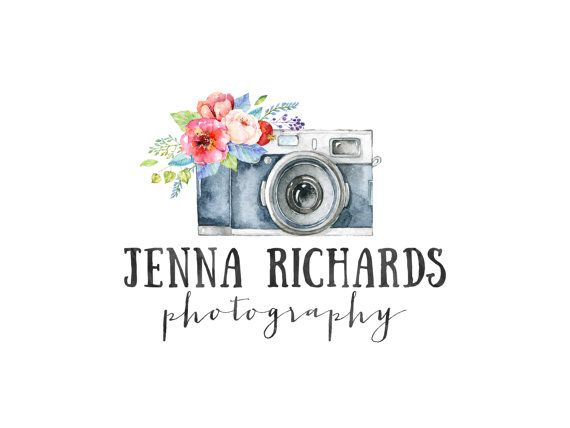 Photography Logo And Watermark Premade Logo Design Watercolor