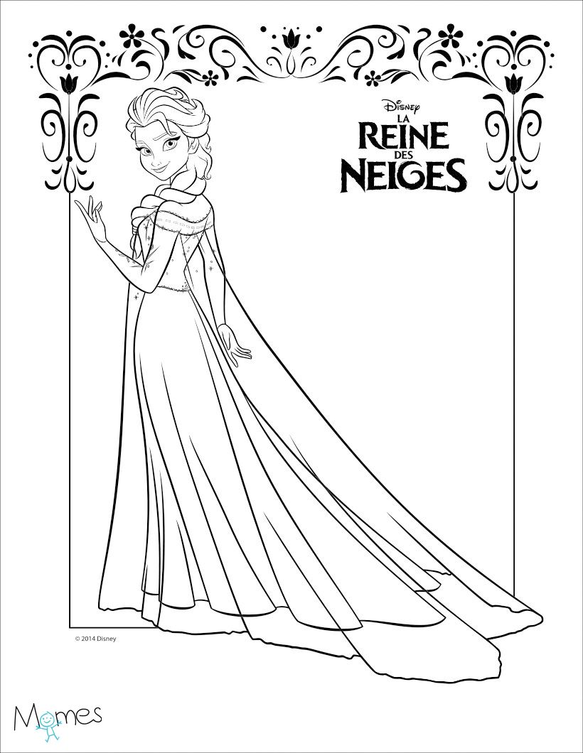 Coloriage Reine Des Neiges Elsa Coloring My Imagination