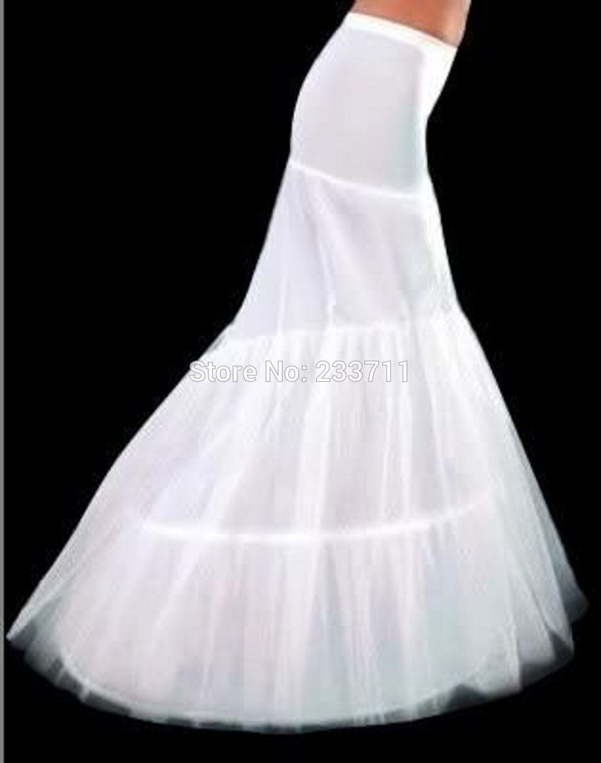 Petticoat for wedding dress  Wedding Accesorios Long Mermaid Petticoats For Wedding Dress Hooped