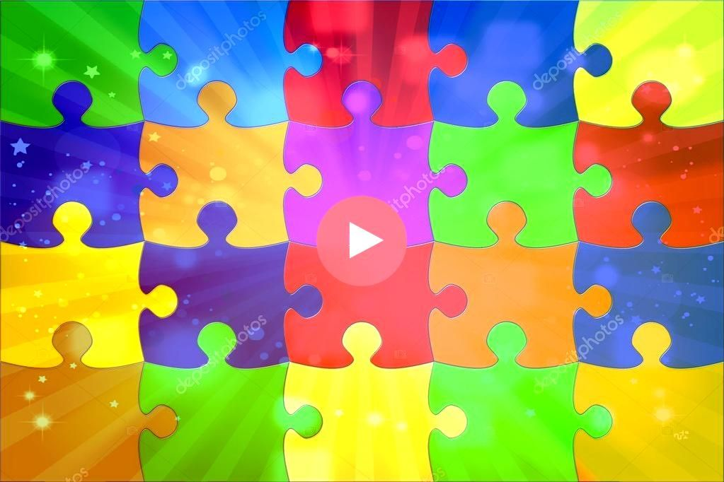 with the coloured puzzle Stock Image Illustration with the coloured puzzle Stock Image  VARIATIONS COLOR You can also choose your different color from here Please choose...