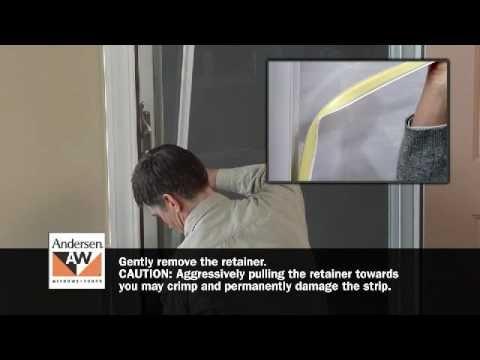How To Switch Storm Door Glass Or Insect Screen Retainer Youtube Storm Door Full View Storm Door Insect Screening