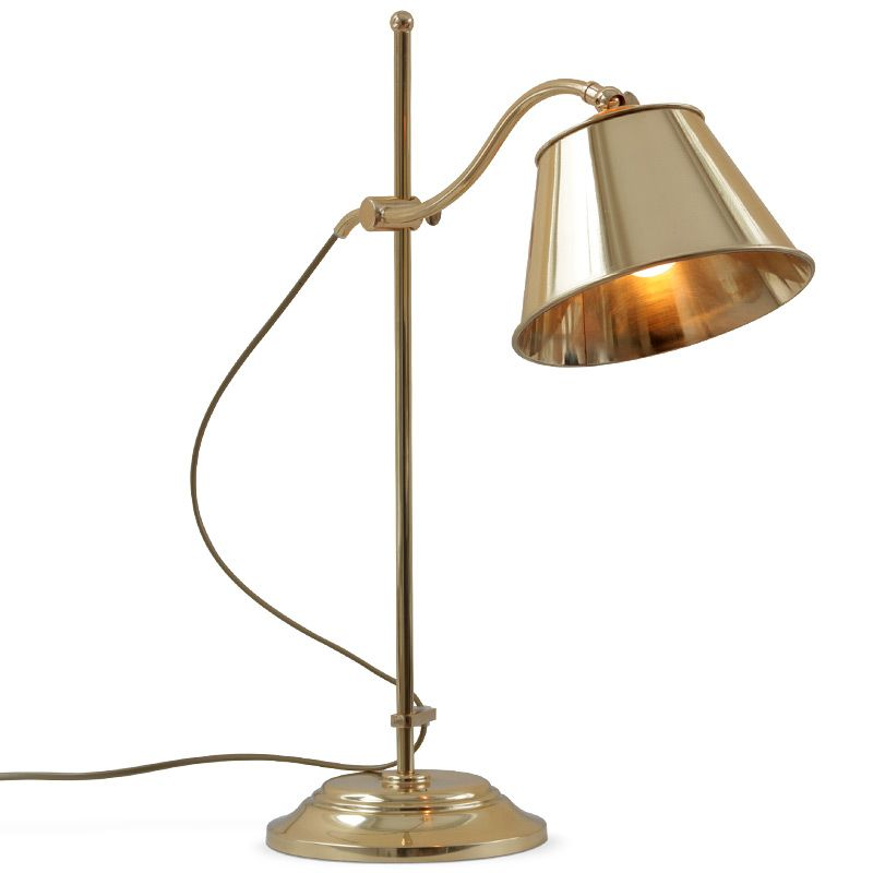 Handcrafted french table lamp polished brass leuchten for Lamp und licht