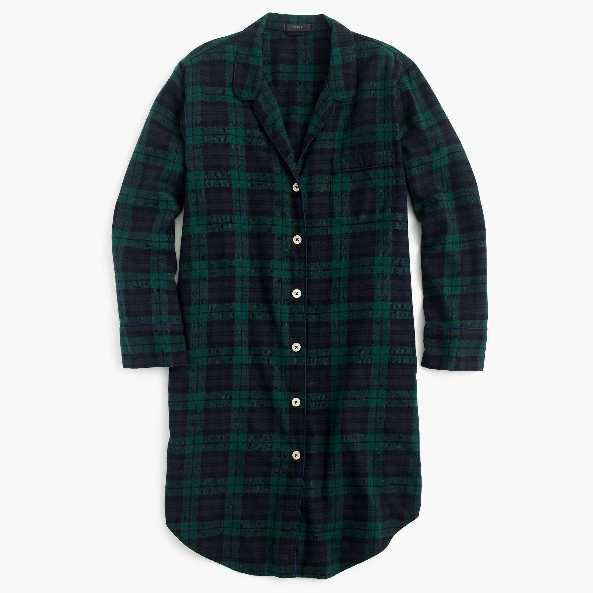 Shop the Nightshirt In Black Watch Flannel at JCrew.com and see our entire  selection of Women s Pajamas   Sleepwear. f0947eed7