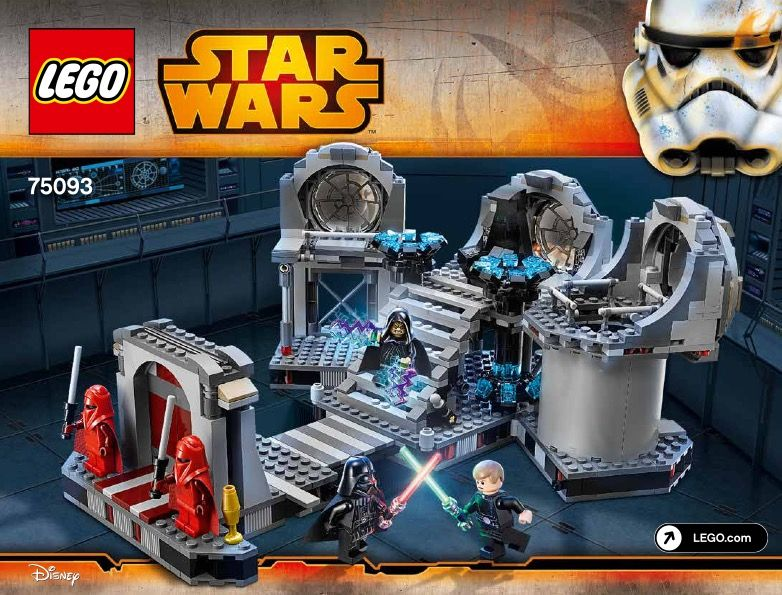 View Lego Instructions For Death Star Final Duel Set Number 75093 To