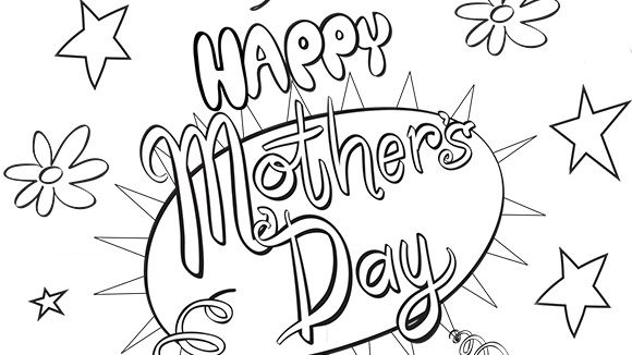 MotherS Day Coloring Page To Print  Holidays