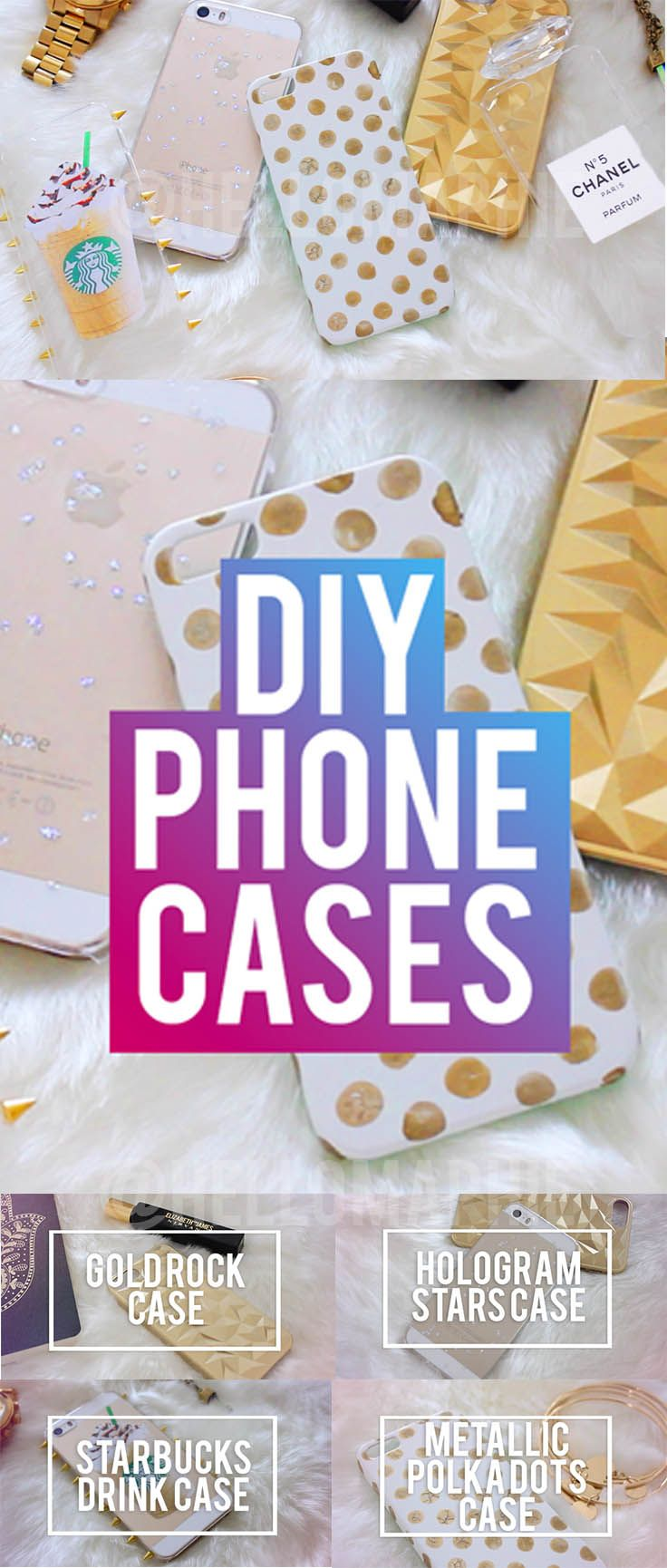 DIY INEXPENSIVE PHONE CASES | Chanel Perfume Case, Starbucks Frapp, Metallic Polka Dots, Brandy Melville and More! #DIY #DiyPhoneCase #DIYiPhoneCase https://www.youtube.com/watch?v=GlncQlKZ9lU