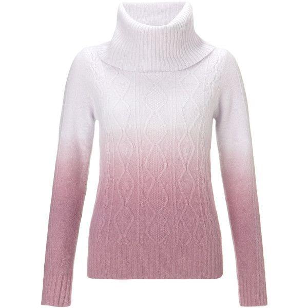 Monsoon Delilah Dip Dye Angora Sweater ($105) found on Polyvore