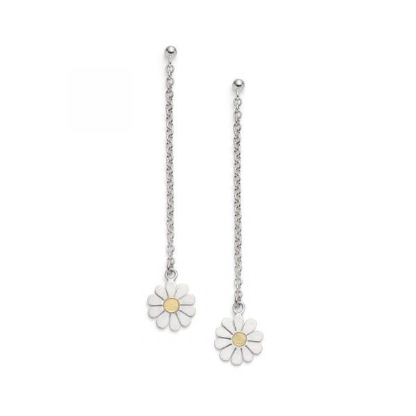 baedb619523ad Little Daisy stud earrings in solid silver and 18ct gold in 2019 ...