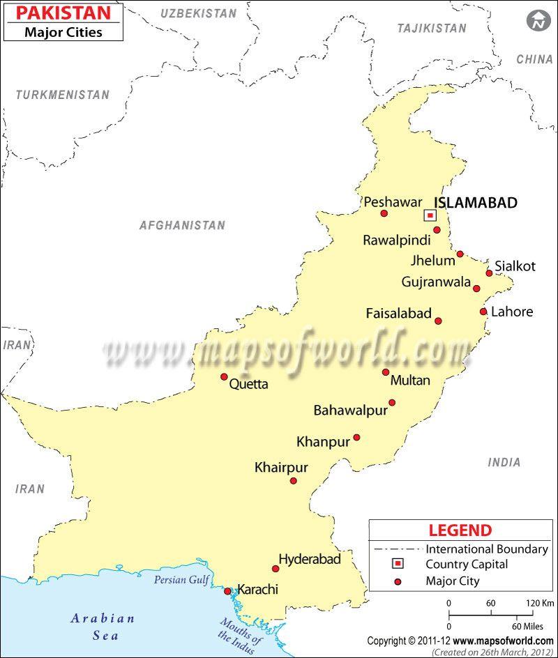 Pakistan Rail Map Ideas For The House Pinterest Pakistan - Major cities of pakistan map