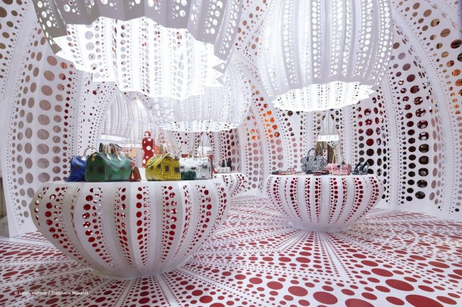 Yayoi Kusama concept store for Louis Vuitton at Selfridges in London.