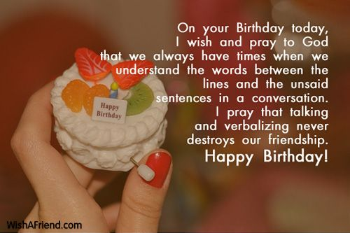 Happy Birthday Message And Prayer ~ On your birthday today i wish and pray to god that we always have